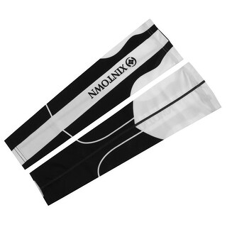 XINTOWN Authorized Sports Cooler Band Arm Sleeves Protector White Black M Pair