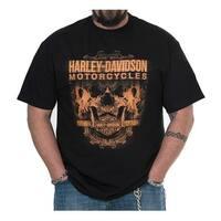 Harley-Davidson Men's Profile Skulls Short Sleeve Crew-Neck T-Shirt - Black