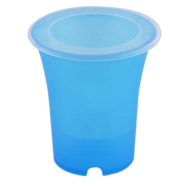 Flower Plastic Round Design Flowerpot Basket Self Watering Planter Blue