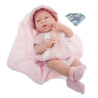 Multi-Piece All-Vinyl Doll Outfit with Blanket - Real Girl, Pink