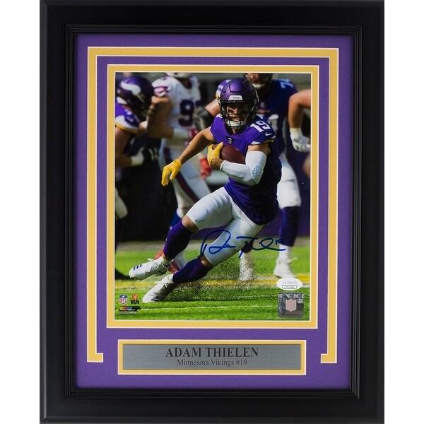 pretty nice 9eea9 dd307 Adam Thielen Signed Framed 8x10 Minnesota Vikings Photo JSA