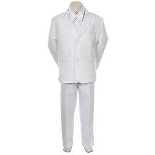 Angels Garment Toddler Little Boys White Classic Tuxedo 5 Pc Set 6M-20