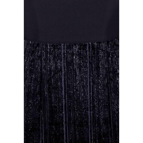 Shop Adrianna Papell Plus Size Black Metallic Velvet Mixed ...