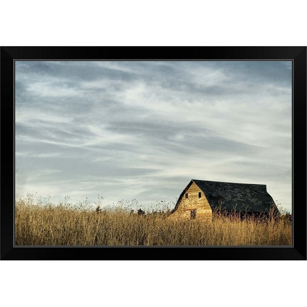 """Saskatchewan barn"" Black Framed Print"