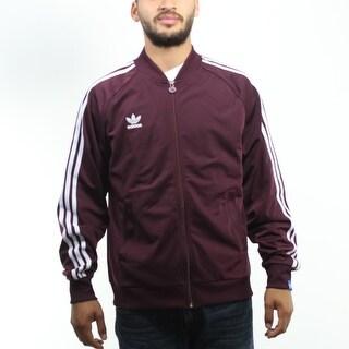 Adidas Originals Three Stripes Trefoil Men's Burgundy Jacket