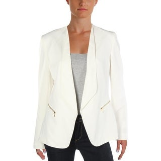 Tahari ASL Womens Blazer Wing-Collar Office