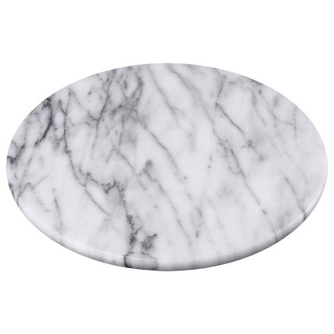 "Creative Home White Marble 8"" Trivet, Cheese Board"