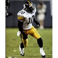 0f2c194b3 Santonio Holmes signed Pittsburgh Steelers 16x20 Photo white jersey Holmes  Hologram