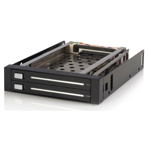 Startech - Hsb220sat25b 2 Drive 2.5In Trayless Hot Swapnsata Mobile Rack Backplane