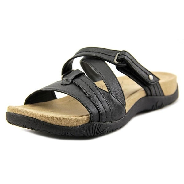 Kim Rogers Haddey Women Open Toe Synthetic Black Slides Sandal