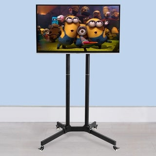 Costway TV Cart Stand Plasma LCD LED Flat Screen Panel w/ Wheels Mobile Fits 30''to 65''