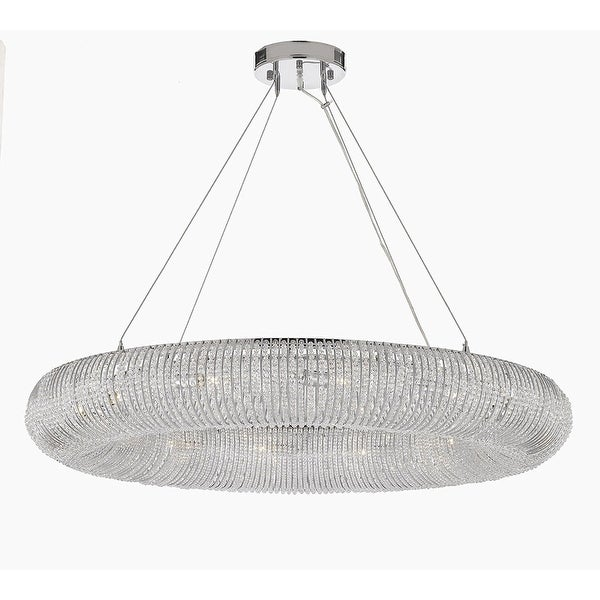 Shop Crystal Halo Chandelier Modern Contemporary Floating Orb 41 Wide