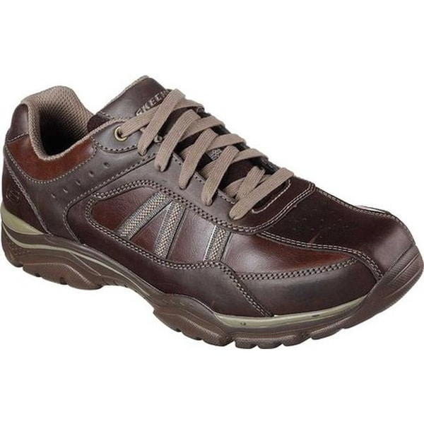 Skechers Men's Relaxed Fit Rovato Texon Sneaker Chocolate