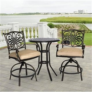 Hanover 30 in. Traditions High Bistro Table Set, 3 Piece