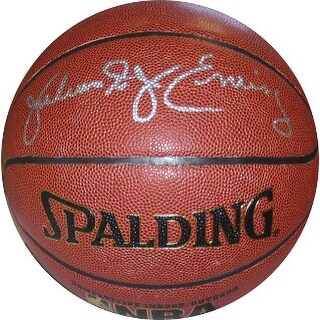 Julius Erving signed Spalding NBA TB IndoorOutdoor Basketball Dr J Silver sigPhiladelphia 76ers BA