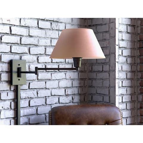Copper Grove Anticosti Matte Black Wall Swing Arm Lamp