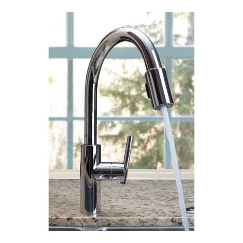 Newport Brass 1500-5103 East Linear Pull-Down Spray Kitchen Faucet ...