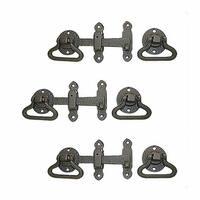 3 Door Latch Wrought Iron Black Set 5 1/2'' W | Renovator's Supply