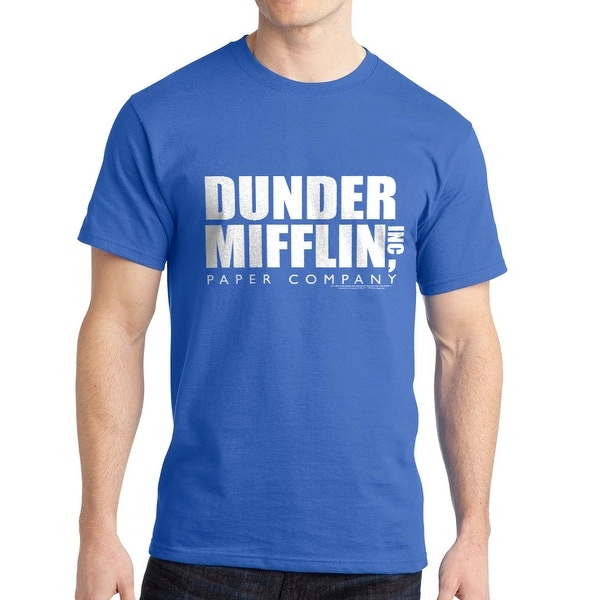 ee83ce8366688 Shop The Office Dunder Mifflin Inc Paper Company Graphic Men s Royal Blue T- shirt - On Sale - Free Shipping On Orders Over  45 - Overstock - 19855360