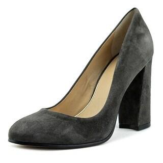 VC John Camuto Abigail Women  Round Toe Suede Gray Heels