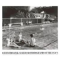 ''Swimming Pool, August 28, 1958, Welch, West Virginia'' by O. Winston Link Photography Art Print (27.5 x 31.5 in.)
