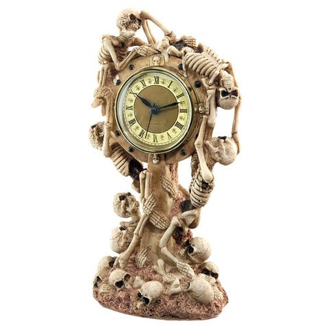 Design Toscano Skeleton Crew Sculptural Mantel Clock