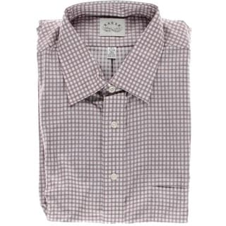 Eagle Mens Big & Tall Checkered Pocket Dress Shirt