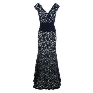 Tadashi Shoji Womens Full-Length Prom Evening Dress