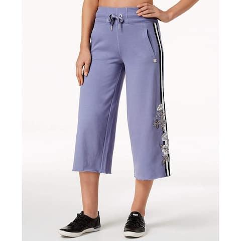 Calvin Klein Performance Women's New Wide-Leg Culotte Pants (Purple XS)