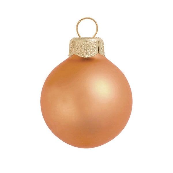 "28ct Matte Burnt Orange Glass Ball Christmas Ornaments 2"" (50mm)"