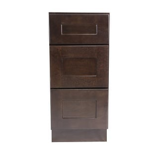 "Design House 620252 Brookings 34.5"" x 15"" Triple Drawer Base Cabinet - ESPRESSO - N/A"