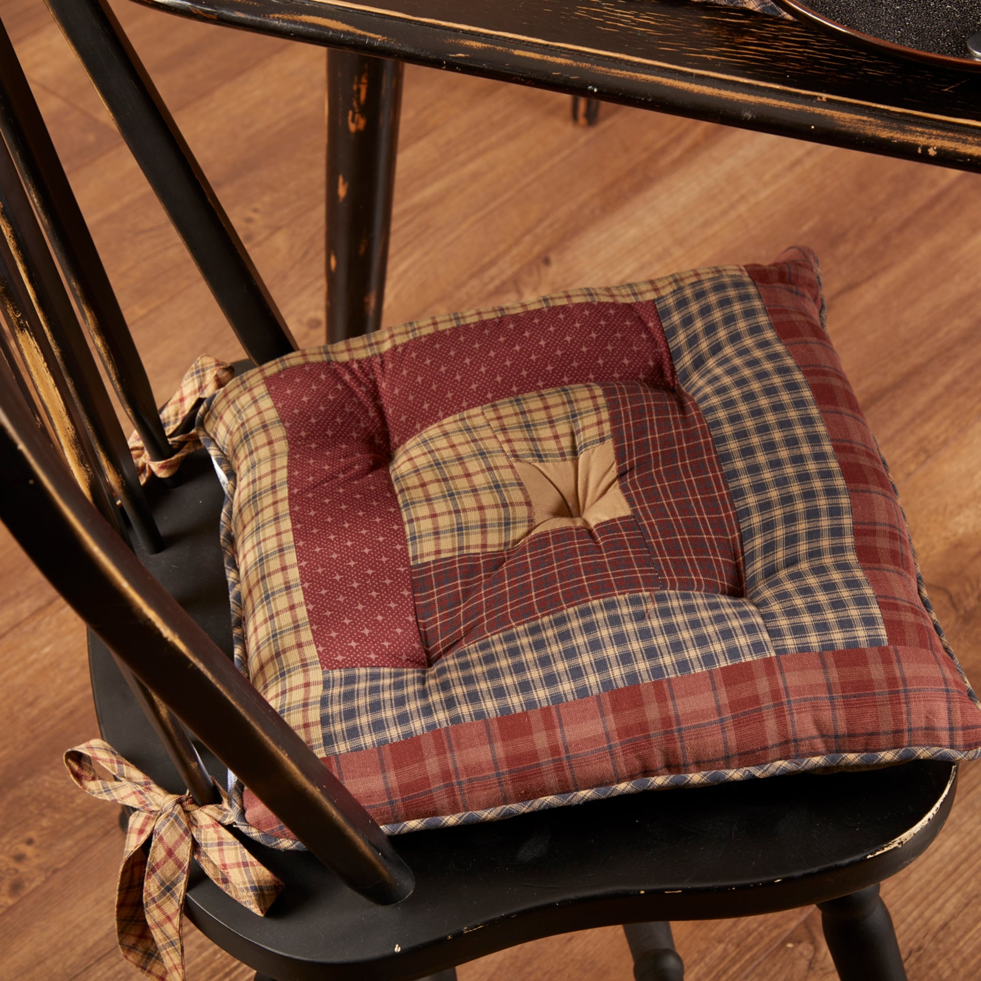 Millsboro Chair Pad Log Cabin Patch Overstock 23059624