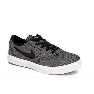 half off 3c7b2 faa2d Nike Boy s Sb Check Canvas (Ps) Skateboarding Shoes (Black Black White