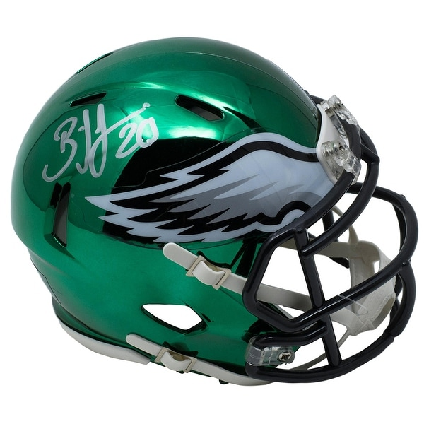 e35f05b7822 Shop Brian Dawkins Signed Philadelphia Eagles Riddell Mini CHROME Speed  Helmet JSA - Free Shipping Today - Overstock - 25677959