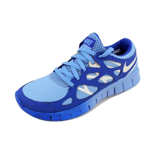 37f5abdfb035 Shop Nike Women s Free Run 2 EXT Light Blue Sail-Hyper Blue 536746 ...