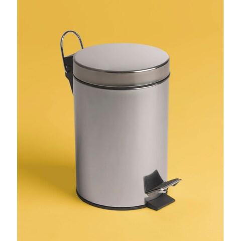 Bissonnet 639710 City .80 Gallon (3-Liter) Floor Standing Pedal Waste Bin - STAINLESS STEEL - n/a