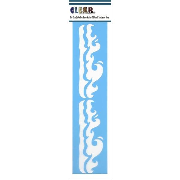 "Clear Scraps Border Stencils 3""X12""-Waves"