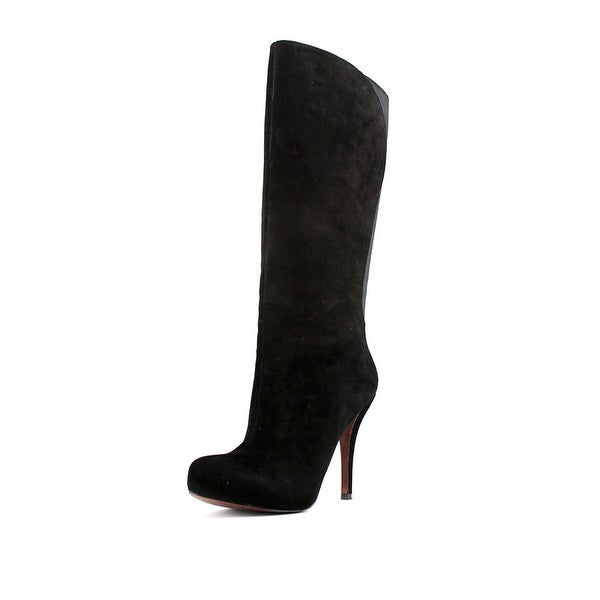 Shop Enzo Angiolini Yabbo Women Pointed Toe Suede Black Knee High ... 8a86a042c