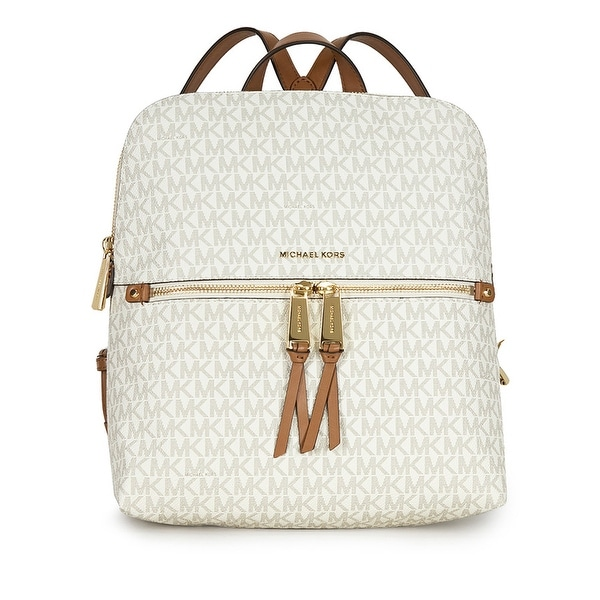 67c11f607 Shop Michael Kors Rhea Medium Slim Backpack Signature Vanilla - Free ...
