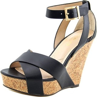 Charles By Charles David Amsterdam Women Open Toe Synthetic Black Wedge Sandal