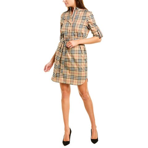 Burberry Vintage Check Tie-Waist Shirtdress