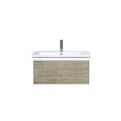 Lexora Scopi 30 inch Single Bathroom Vanity with Faucet