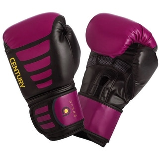 Century Women's Brave Hook and Loop Training Boxing Gloves - Black/Pink