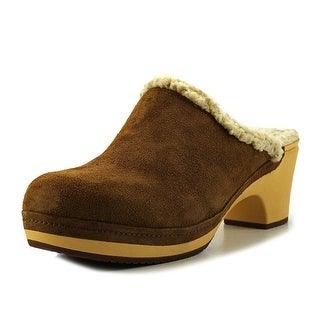 Crocs Sarah Lined Clog Women Round Toe Suede Brown Clogs