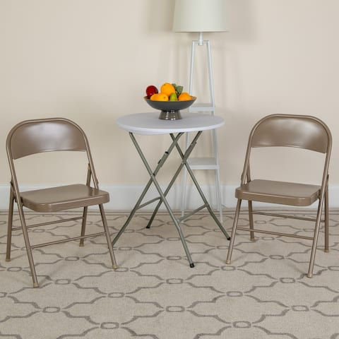 4 Pack Double Braced Metal Folding Chair