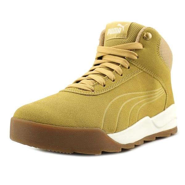 Puma Desierto Sneaker Men Round Toe Suede Tan Sneakers