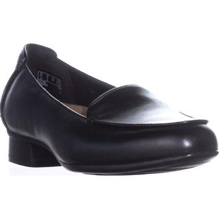 Clarks Keesha Luca Slip-On Flats, Black Leather2