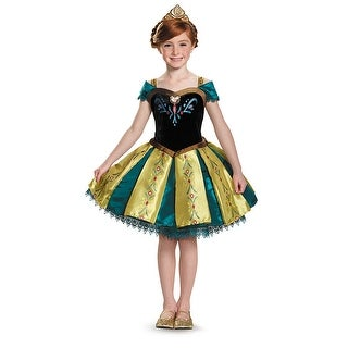 Girls Frozen Anna Coronation Prestige Tutu Costume