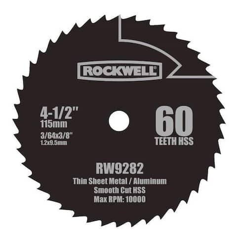 "Rockwell RW9282 High Speed Steel Saw Blade, 4-1/2"""