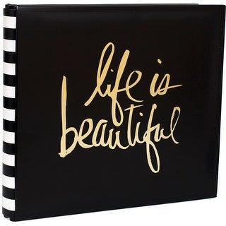 "Heidi Swapp Storyline2 Post Bound Album 12""X12""-Gold Life"